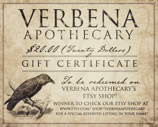Verbena Apothecary Giveaway on The Witch of Howling Creek
